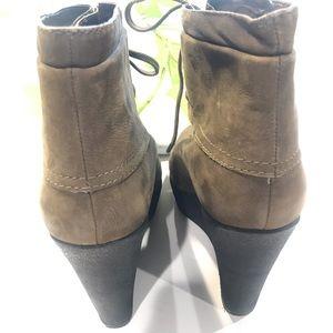RACHEL Rachel Roy Shoes - 🍃Rachel Roy Olive Green Wedge Booties-Size 9🍃